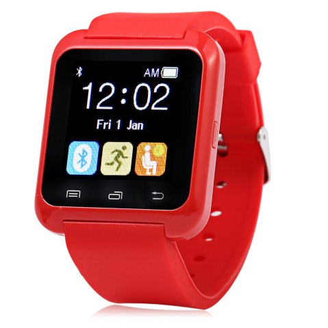Outfits U80 Smart Watch with Pedometer Function - RED  Mobile