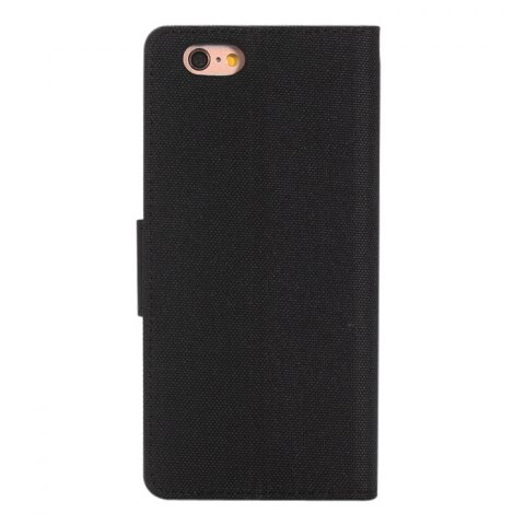 Fashion Jeans Design Flip PU Full Body Cover Case for iPhone 6 / 6S with Stand Card Holder - BLACK  Mobile