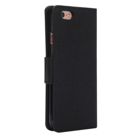 Hot Jeans Design Flip PU Full Body Cover Case for iPhone 6 / 6S with Stand Card Holder - BLACK  Mobile