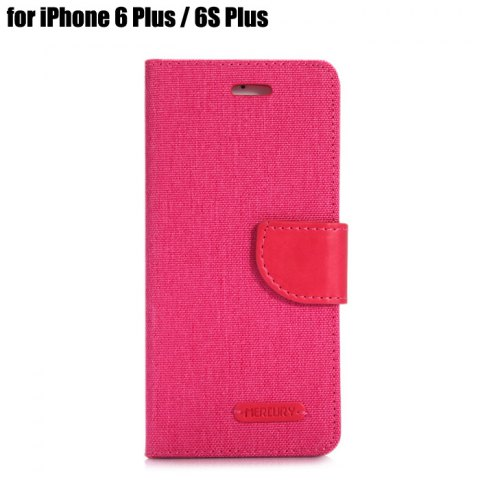 Chic Jeans Design Flip PU Full Body Cover Case for iPhone 6 Plus / 6S Plus with Stand Card Holder