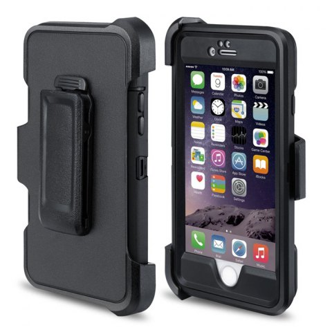 Unique MBLAI Water Resistant Full Body Protective Case for iPhone 6 Plus / 6S Plus Dustproof Anti-shock Mobile Shell - BLACK  Mobile