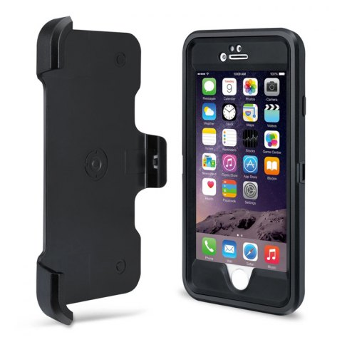 Fashion MBLAI Water Resistant Full Body Protective Case for iPhone 6 Plus / 6S Plus Dustproof Anti-shock Mobile Shell - BLACK  Mobile