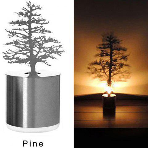 Affordable Creative Nest Shadow Projection LED Lamp Romantic Atmosphere Candle Decor Light - NEST SILVER Mobile