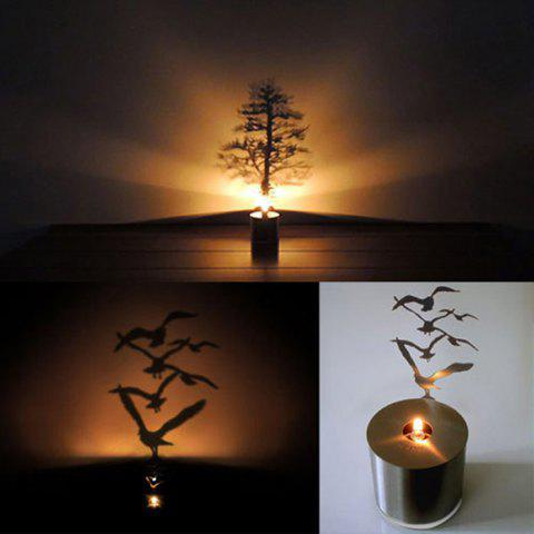 Buy Creative Nest Shadow Projection LED Lamp Romantic Atmosphere Candle Decor Light - NEST SILVER Mobile