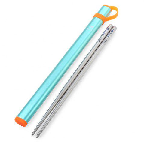 Chic Keith Ti5820 Ultralight Titanium Chopsticks with Metal Packing Tube