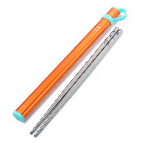 Outfits Keith Ti5820 Ultralight Titanium Chopsticks with Metal Packing Tube