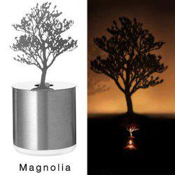 Creative Magnolia Shadow Projection LED Lamp Romantic Atmosphere Candle Decor Light - SILVER
