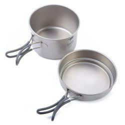 Keith KP6012 Folding Handle Titanium Pot -