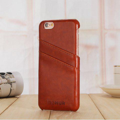 Hot LeeHUR PU Leather Phone Cover Case with Card Slot for iPhone 6 / 6S - BROWN  Mobile
