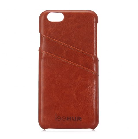 Shops LeeHUR PU Leather Phone Cover Case with Card Slot for iPhone 6 / 6S - BROWN  Mobile