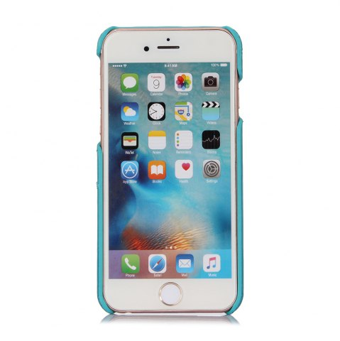 Buy LeeHUR PU Leather Phone Cover Case with Card Slot for iPhone 6 / 6S - BLUE  Mobile