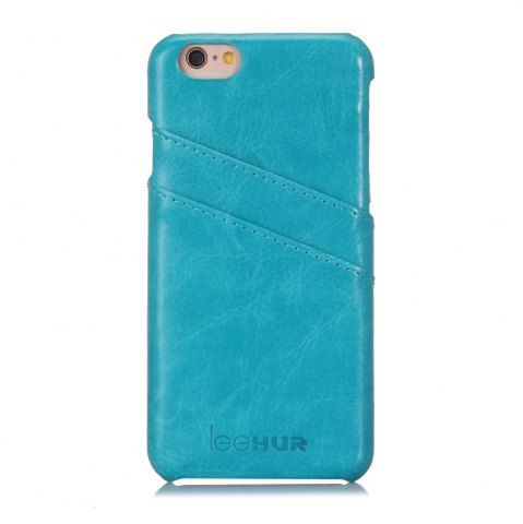 Shops LeeHUR PU Leather Phone Cover Case with Card Slot for iPhone 6 / 6S - BLUE  Mobile
