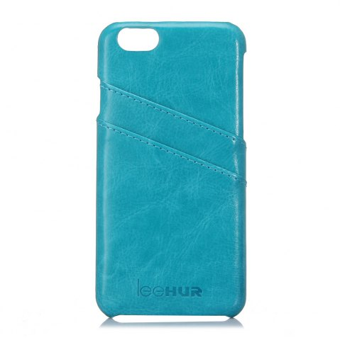 New LeeHUR PU Leather Phone Cover Case with Card Slot for iPhone 6 / 6S - BLUE  Mobile