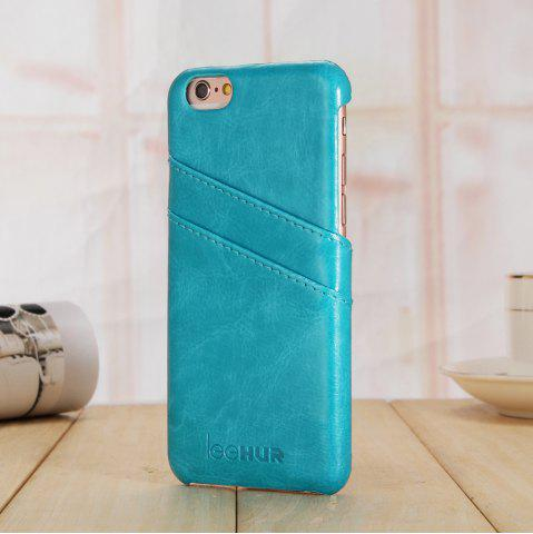 Fashion LeeHUR PU Leather Phone Cover Case with Card Slot for iPhone 6 / 6S - BLUE  Mobile