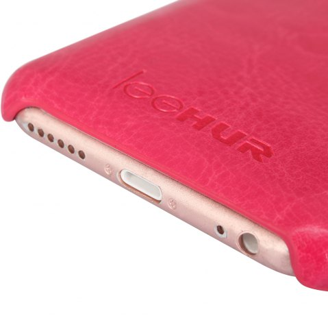 Fashion LeeHUR PU Leather Phone Cover Case with Card Slot for iPhone 6 / 6S - ROSE  Mobile