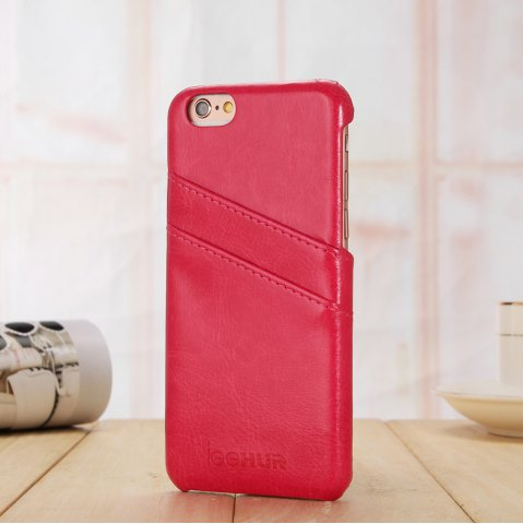 Latest LeeHUR PU Leather Phone Cover Case with Card Slot for iPhone 6 / 6S - ROSE  Mobile