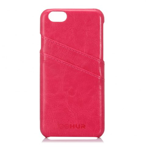 New LeeHUR PU Leather Phone Cover Case with Card Slot for iPhone 6 / 6S - ROSE  Mobile