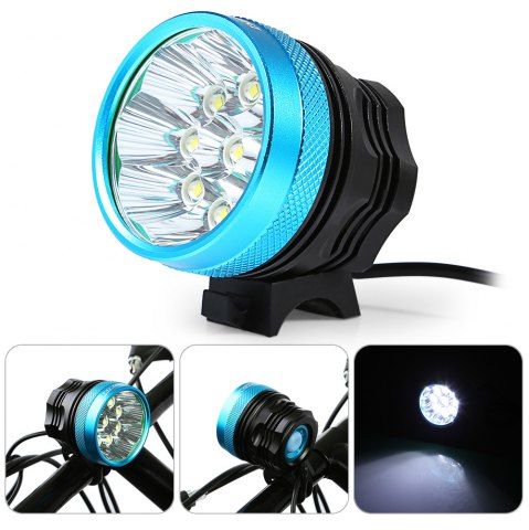 Affordable DECAKER XML - T6 4500LM 9 LEDs 3 Modes Bicycle Front Light -   Mobile