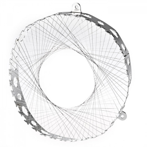 Round Shape Stainless Steel Gas Energy Saver Net Stove Wind Resistant Circle - SILVER