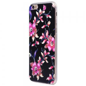 Transparent Style Protective Case for iPhone 6 / 6S Ultra-thin TPU Soft Mobile Shell with Pattern -
