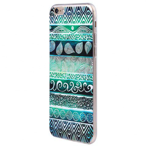 Outfit Transparent Style Protective Case for iPhone 6 / 6S Ultra-thin TPU Soft Mobile Shell with Pattern - GREEN  Mobile