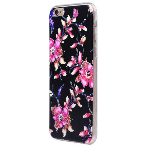 New Transparent Style Protective Case for iPhone 6 / 6S Ultra-thin TPU Soft Mobile Shell with Pattern - BLACK  Mobile