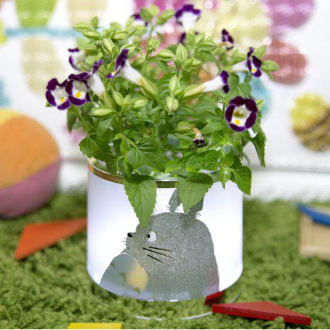 Store Multi-functional Retro LED Light Storage Box Decorative Planting Flower Pot Gadgets Container