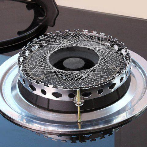Latest Round Shape Stainless Steel Gas Energy Saver Net Stove Wind Resistant Circle - SILVER  Mobile