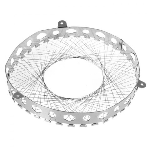 Affordable Round Shape Stainless Steel Gas Energy Saver Net Stove Wind Resistant Circle - SILVER  Mobile