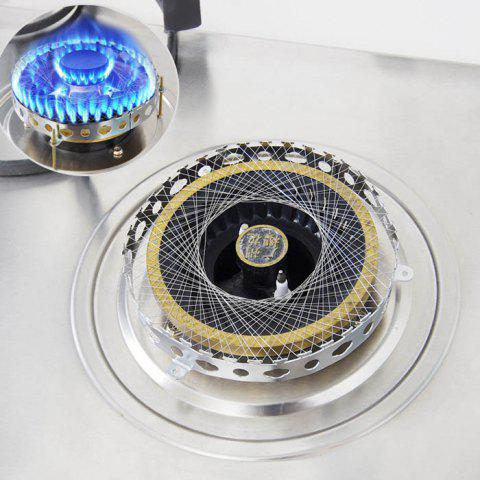 Outfit Round Shape Stainless Steel Gas Energy Saver Net Stove Wind Resistant Circle - SILVER  Mobile