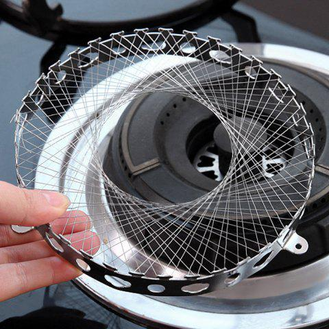 Chic Round Shape Stainless Steel Gas Energy Saver Net Stove Wind Resistant Circle - SILVER  Mobile