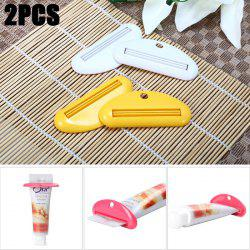 2PCS Toothpaste Tube Squeezer Facial Cleanser Dispenser Bathroom Device - COLORMIX