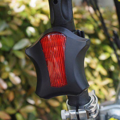 Discount LEADBIKE Starfish Shaped Night Bicycle Tail Light with Laser Parallel Ray -   Mobile