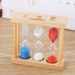 Creative 3 in 1 Hourglass Sand Timer 1 / 3 / 5min Countdown Function -