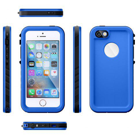 Discount Full Body IP68 Waterproof Protective Case for iPhone SE / 5S / 5 Dustproof Anti-shock Mobile Shell - BLUE  Mobile