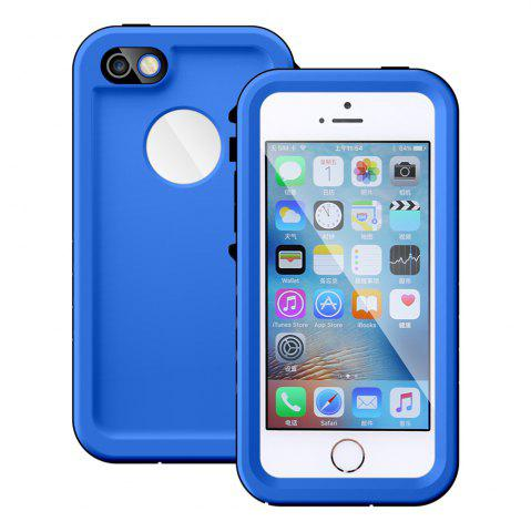 Fashion Full Body IP68 Waterproof Protective Case for iPhone SE / 5S / 5 Dustproof Anti-shock Mobile Shell - BLUE  Mobile