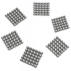 3mm Silver Magnetic Ball Puzzle Novelty DIY Toy 216Pcs / Set -