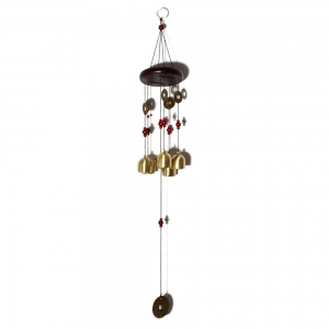 Creative Golden Bells Wind Chimes Home Window Room Garden Hanging Ornament