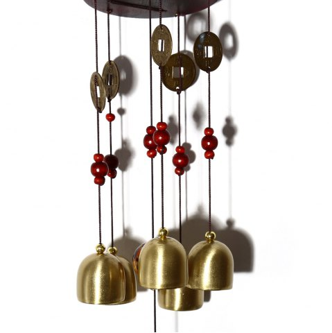 Sale Creative Golden Bells Wind Chimes Home Window Room Garden Hanging Ornament - CHAMPAGNE  Mobile