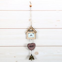 Creative Small House and Heart Shape Wind Chimes Home Window Room Garden Hanging Ornament -
