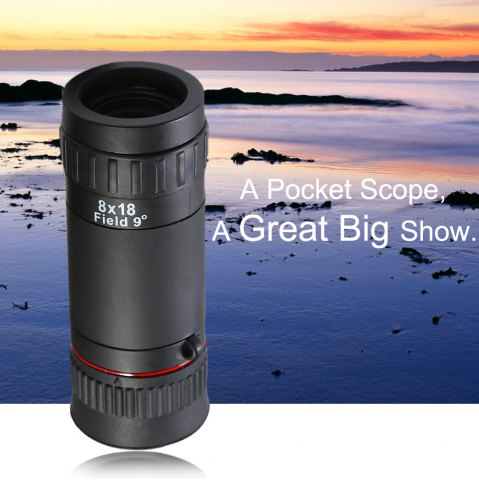 Fancy Multi-coated Monocular 8 x 18 - BLACK  Mobile