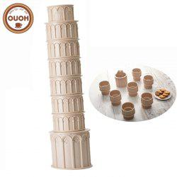 OUOH Pisa Tower Shaped Water Bottle Set with 6PCS Spoon - 270ml -