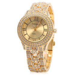 Contena GENEVA Double-row Diamond Lady Quartz Watch - GOLDEN