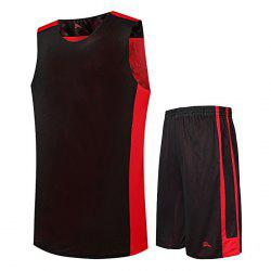 Men Quick-drying Sleeveless Basketball Suit with Pocket for Fitness