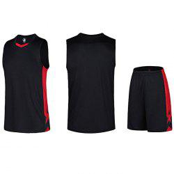 Men Quick-drying Sleeveless Basketball Suit for Fitness