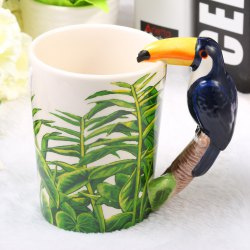 Creative Toucans Shaped Ceramic Mug Decorative Cup for Coffee Tea Juice