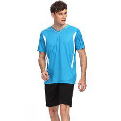 Male Sweat-absorbent Breathable Football Suit Exercising Clothes