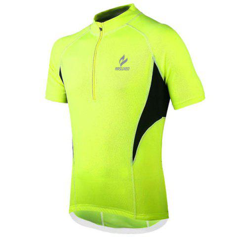 Large NEON GREEN Arsuxeo 665 Cycling Jersey Sweatshirt