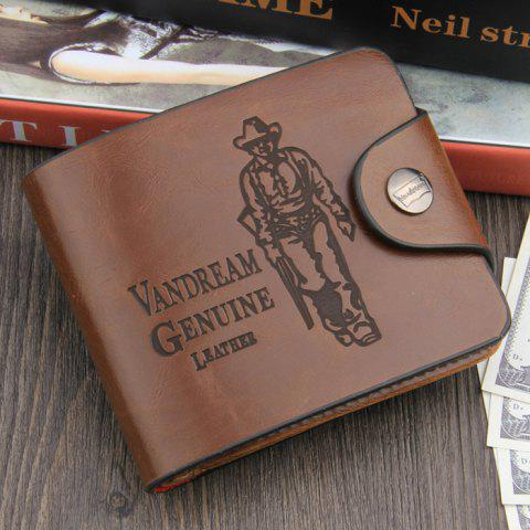 Best Leisure PU Classic Man Wallet - NO HOLE TYPE COFFEE Mobile