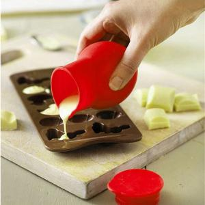 DIY Melted Chocolate Cup Silicone Baking Mold for Fondant Sugar - RED